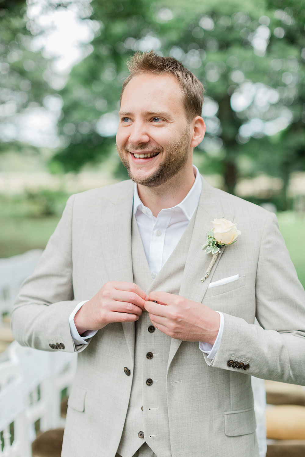 stylish groom crook hall