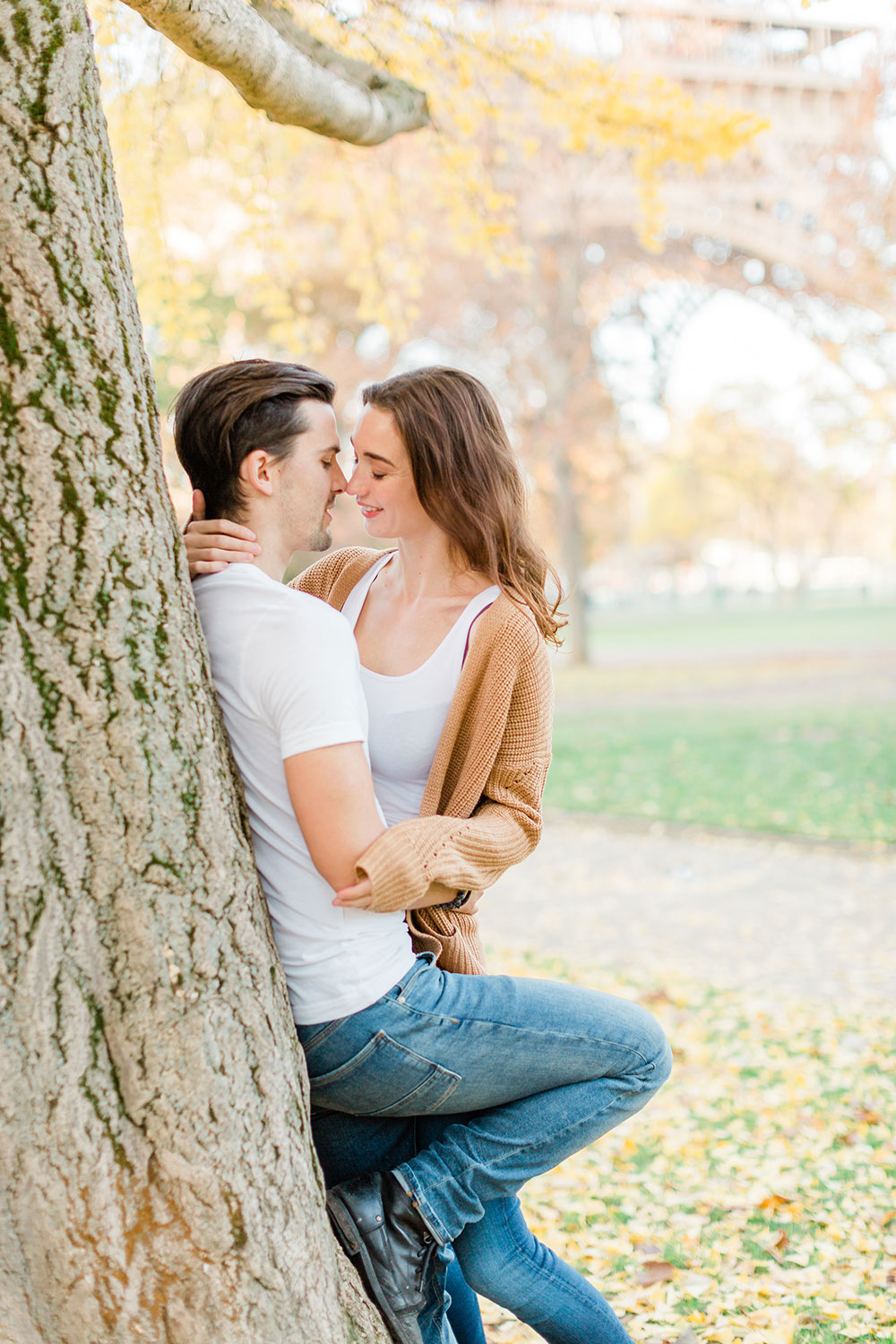 Paris Engagement Shoot natural photography carn patrick